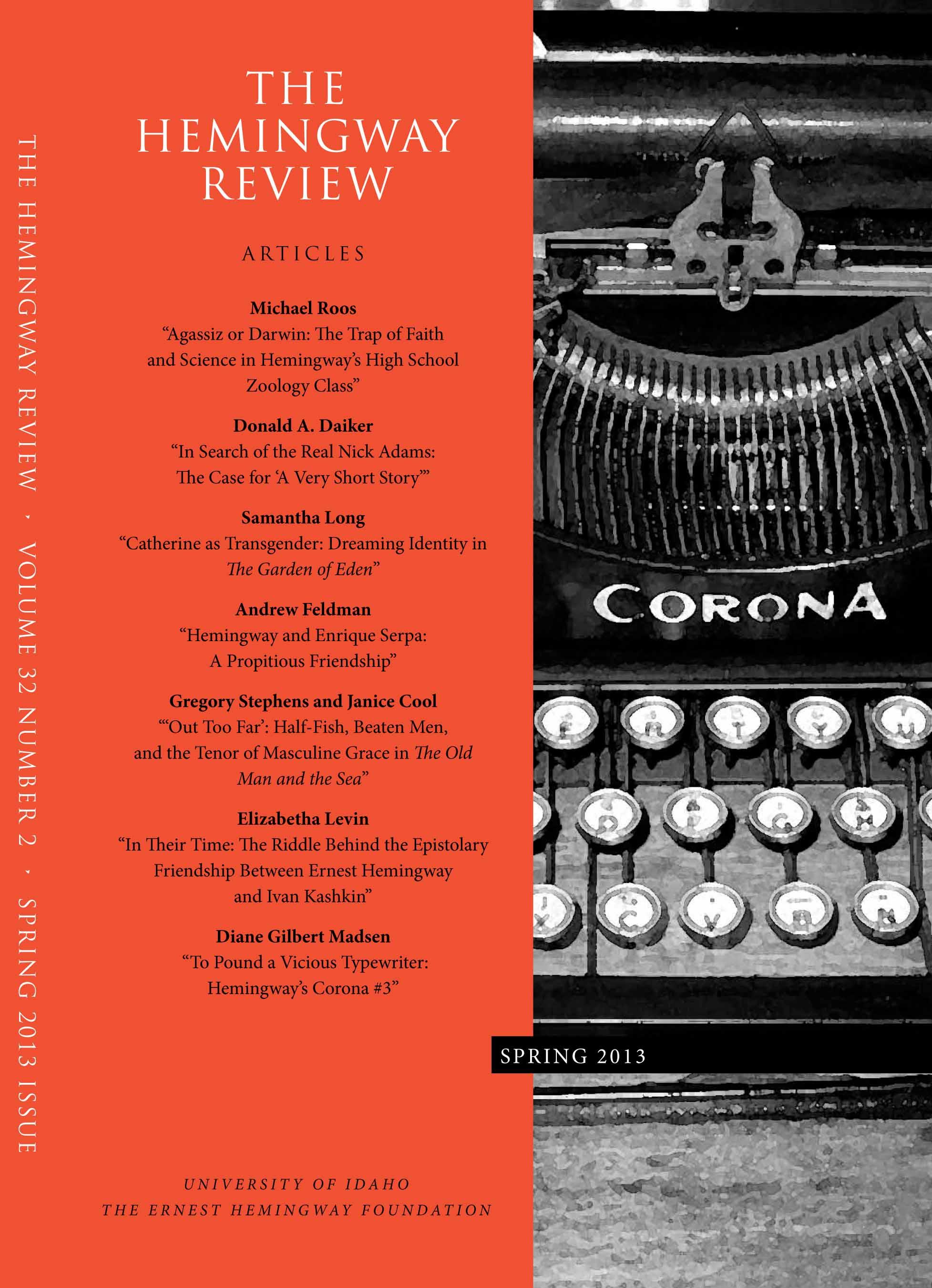 Hemingway Review Spring 2013