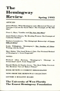 The Hemingway Review Vol.12 No.2 Spring 1993