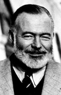 Picture of Hemingway with beard