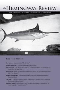The Hemingway Review Vol.38 No.1 Fall 2018