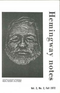 Hemingway Notes Vol.2 No.2 Fall 1972