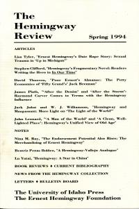 The Hemingway Review Vol.13 No.2 Spring 1994