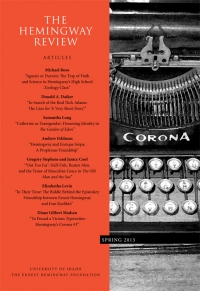 The Hemingway Review Vol.32 No.2 Spring 2013