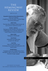 The Hemingway Review Vol.33 No.2 Spring 2014