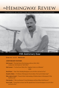 The Hemingway Review Vol.35 No.2 Spring 2016